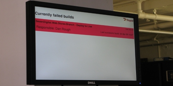 Failed builds monitor